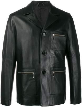 Ernest W. Baker button-up leather jacket