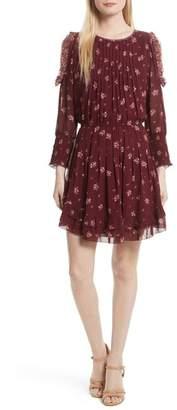 Joie Arleth Cold Shoulder Silk Dress