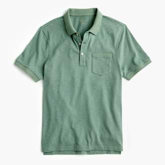 J.Crew Slub cotton polo shirt in stripe