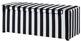 PoshLiving Jake Velvet Storage Bench - Shoe Case - Upholstered - Black and White in Black - Posh Living