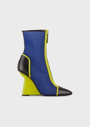 38570211b3 Emporio Armani Black Leather Women's Boots - ShopStyle