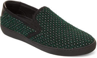 Marc Jacobs Green & Black Metallic Slip-On Sneakers