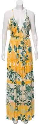 Emilio Pucci Silk V-Neck Maxi Dress