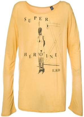 Enfants Riches Deprimes super heroine intarsia T-shirt