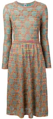 M Missoni patterned knit midi dress