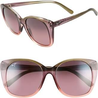 Maui Jim Mele 55mm PolarizedPlus2(R) Round Cat Eye Sunglasses