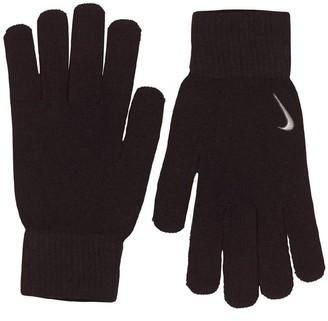 Nike Mens Swoosh Knit Gloves Black/White