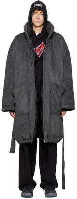 Vetements Reversible Grey Couch Potato Bathrobe Coat