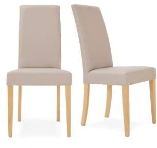 At Next Set Of 2 Mayfair Faux Leather Dining Chairs