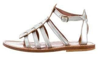 K Jacques St Tropez Multistrap Leather Sandals