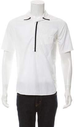 Ann Demeulemeester Colorblock Button Tab Collar Shirt