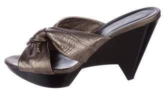 Robert Clergerie Metallic Platform Sandals