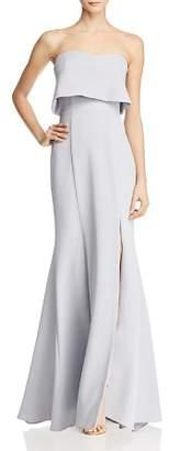 Aqua Crepe Bustier Gown - 100% Exclusive