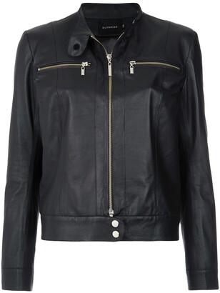Olympiah buttoned collar jacket