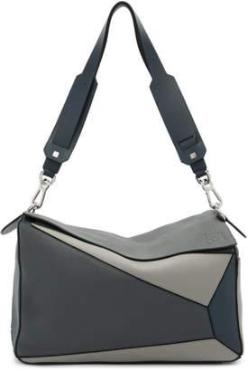 Loewe Grey XL Puzzle Messenger Bag