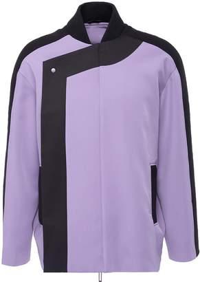 Staffonly 'Hibiki' contrast trim herringbone unisex bomber jacket