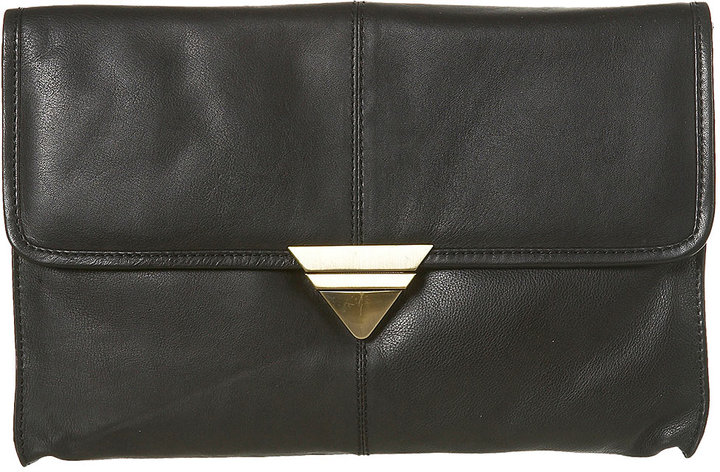 Triangle Lock Clutch Bag