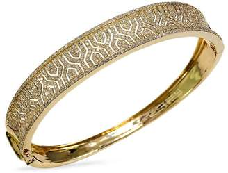 Effy Women's Doro Diamond and 14K Yellow Gold Bangle Bracelet, 1.98 TCW