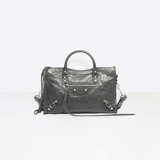 """Balenciaga Medium size lambskin hand carry and shoulder bag with """"classic"""" studs"""