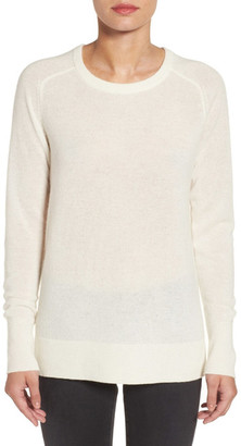 Halogen Crewneck Lightweight Cashmere Sweater $89 thestylecure.com