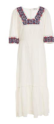 Sea Leah Linen Midi Dress