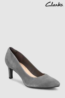 Next Womens Clarks Suede Calla Rose Court Shoe