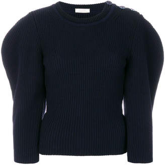 Nina Ricci puffed sleeve ribbed sweater