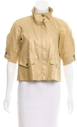 Diane von Furstenberg Linen Short Sleeve Jacket