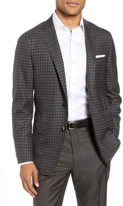 Hickey Freeman Classic B-Fit Check Wool Sport Coat
