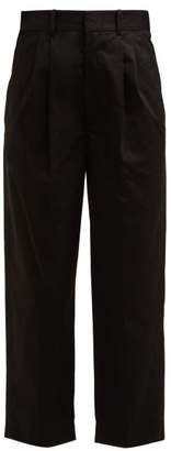 Isabel Marant Grayson Wide Leg Cropped Trouser - Womens - Black