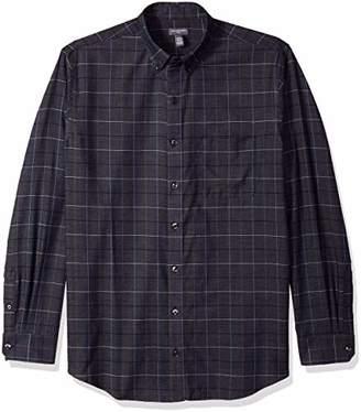 Van Heusen Men's Big and Tall Flex Long Sleeve Large Grid Button Down Shirt