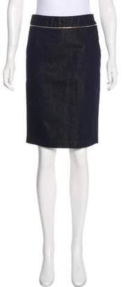 Saint Laurent Denim Pencil Skirt