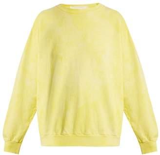 Audrey Louise Reynolds - Round Neck Cotton Sweatshirt - Womens - Yellow