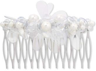 Simone Rocha Silver-tone, Faux Pearl, Crystal And Pvc Hair Slide - White