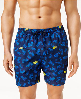 Tommy Hilfiger Men's Pineapple Print Swim Trunks $69.50 thestylecure.com