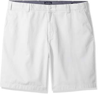 Nautica Men's Flat Front Deck Short,Bright hite,33