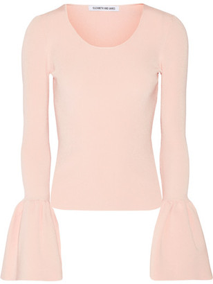 Elizabeth and James - Willow Ribbed-knit Top - Blush $325 thestylecure.com