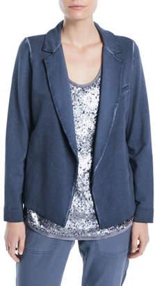 Nic+Zoe Terry Open-Front Garment-Dye Blazer, Plus Size