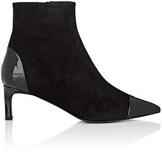 Tomasini Women's Jerry Suede & Patent Leather Ankle Boots - Black