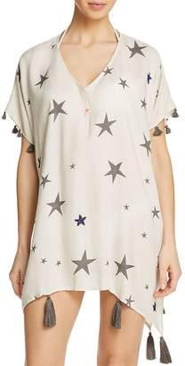 Surf.Gypsy Beaded Star Print Dress Swim Cover-Up