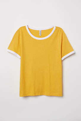 H&M Short T-shirt - Yellow