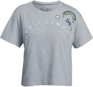 Under Armour Girls' UA Patch Short Sleeve