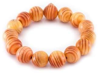 März The Red Alder Beaded Wood Stretch Bracelet