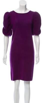 Fendi Merino Wool Knee-Length Dress Purple Merino Wool Knee-Length Dress