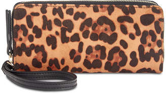 INC International Concepts I.n.c. Remmey Leopard-Print Zip-Around Wallet, Created for Macy's