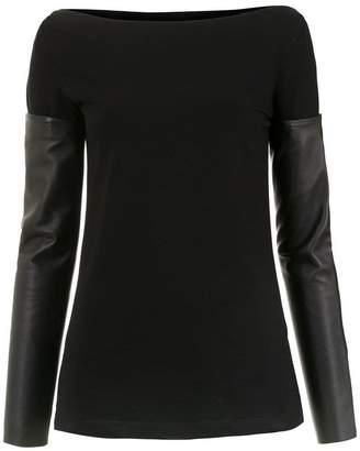 Gloria Coelho detachable sleeves blouse