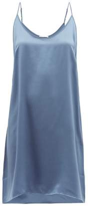 Araks Pearl Silk Satin Slip Dress - Womens - Light Blue