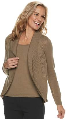 Croft & Barrow Petite Layered Look Sweater