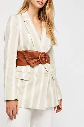 Terracotta Leather Wrap Belt