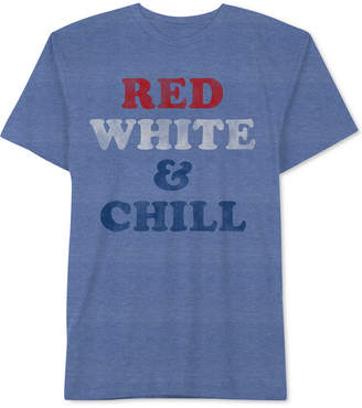 Hybrid Men's Red, White & Chill Graphic T-Shirt
